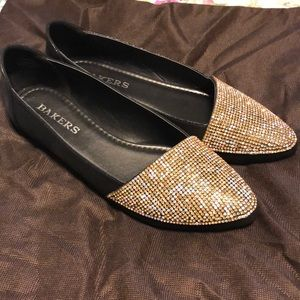 LIKE NEW Bakers Bedazzled Flats Loafers